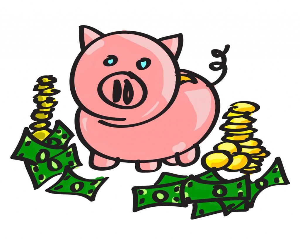 Pig Bank Cartoon