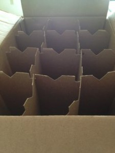 Wine box for moving